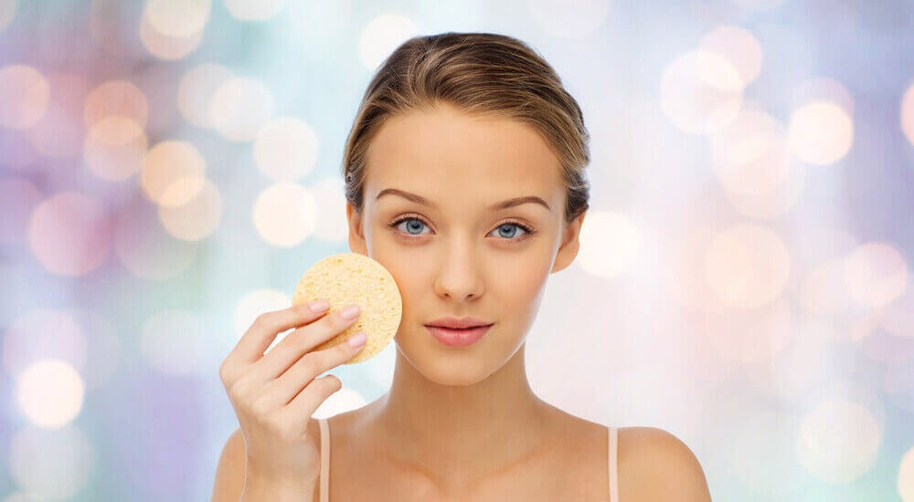 Kvinne med vakker hud