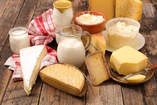 Vær forsiktig med salt og meieriprodukter