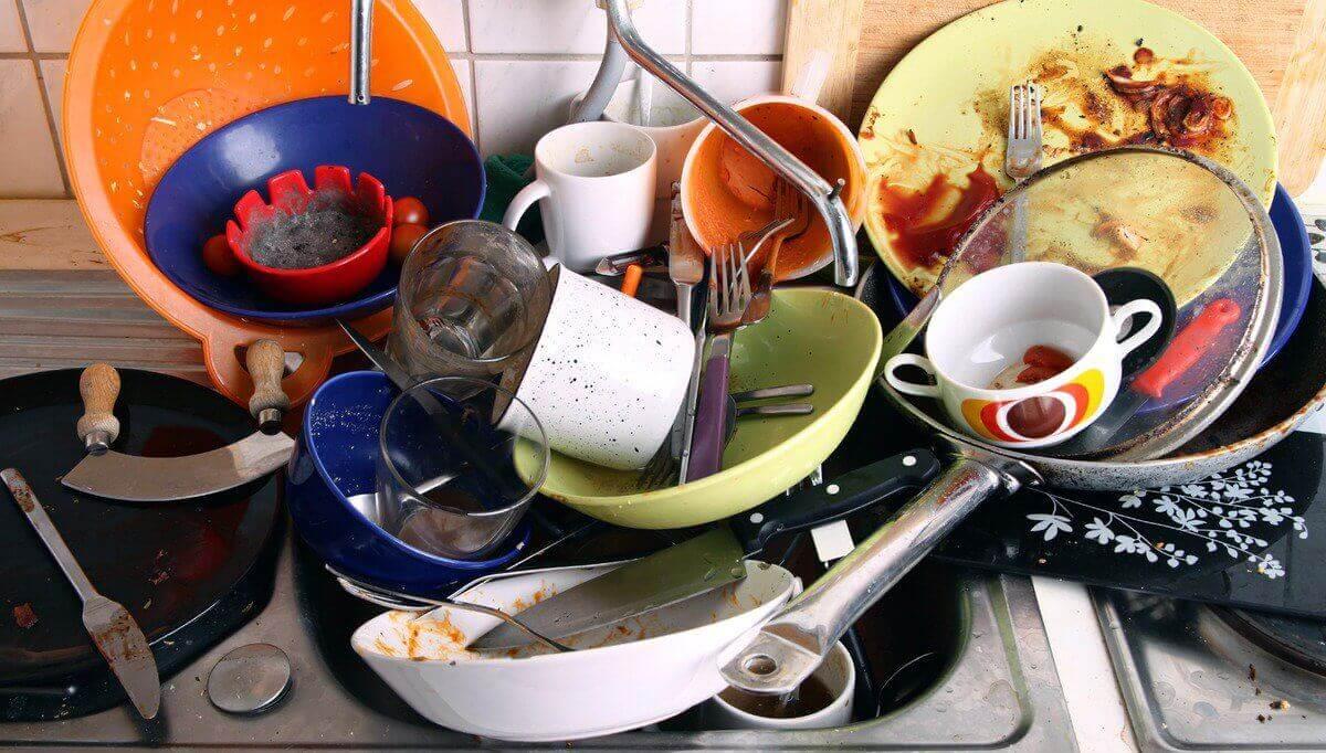 Skitten oppvask