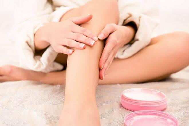 Glatte ben med vaselin