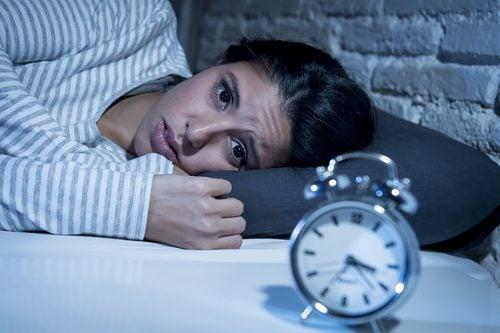 Endringer i din biologiske klokke, kvinne får ikke sove