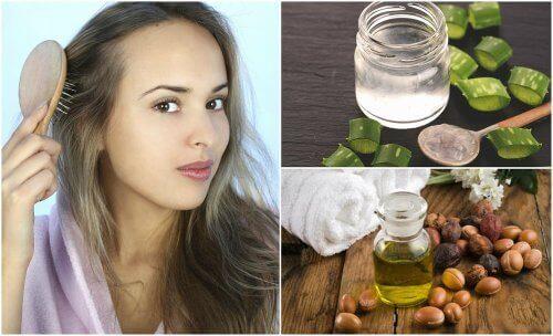 5 naturlige behandlinger for hår som tynnes ut