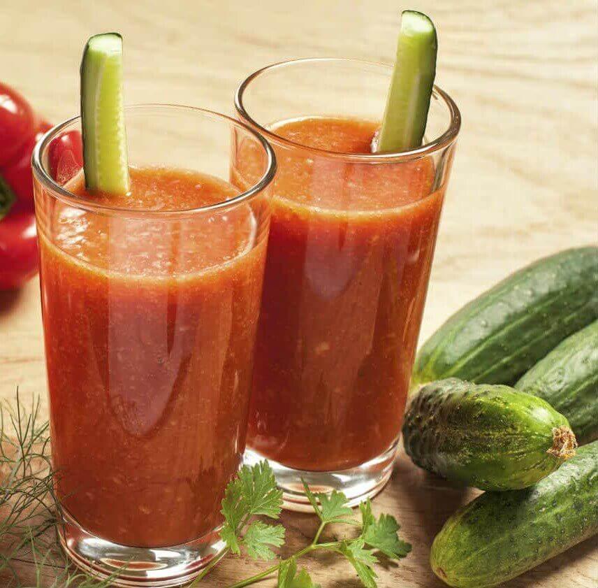 Agurk- og tomatsmoothie