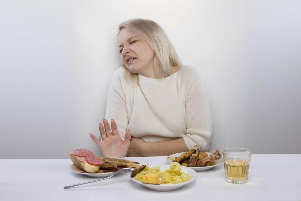 Kvinne med dårlig appetitt