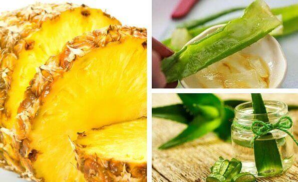 Aloe vera og ananas