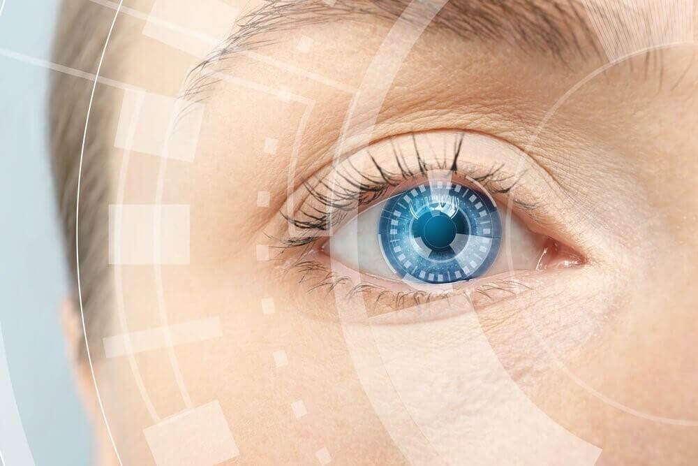 Blått øye
