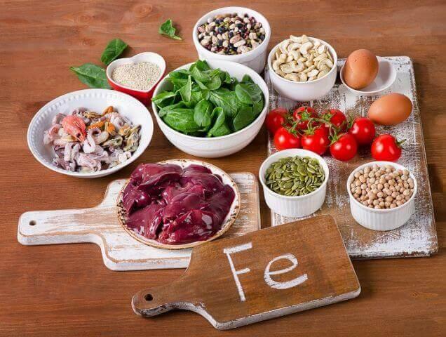 Matvarer med jern