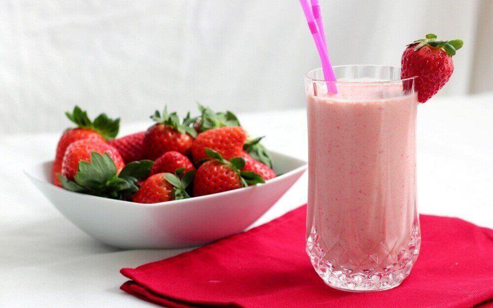 Jordbærsmoothie