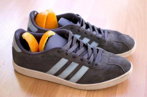 Appelsinskall i sko