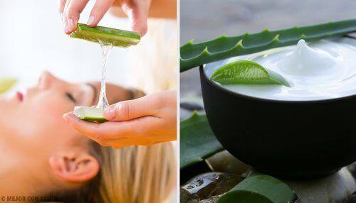 Naturlige sminkefjernere laget med aloe vera