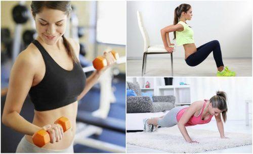 Gjør disse 6 enkle øvelsene for å stramme opp slappe armer