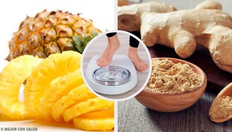 Ned i vekt med denne ananas og ingefær-smoothien