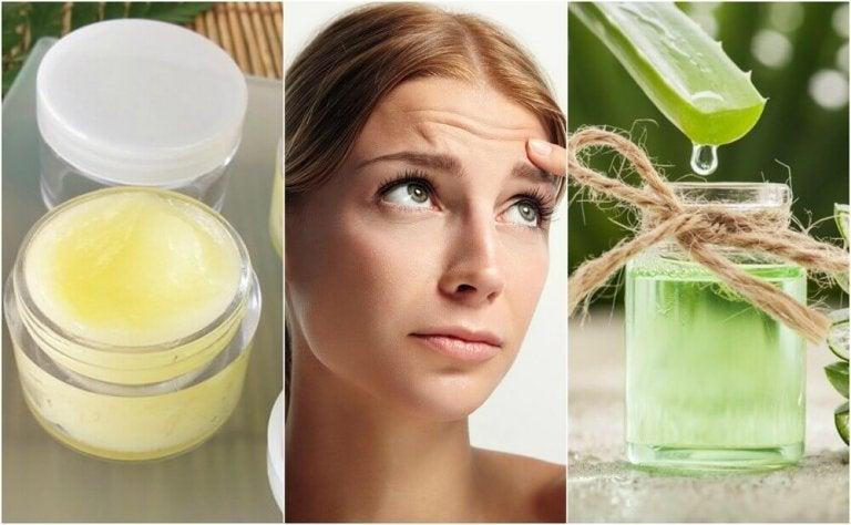 5 naturlige ansiktsmasker for å redusere linjer på pannen