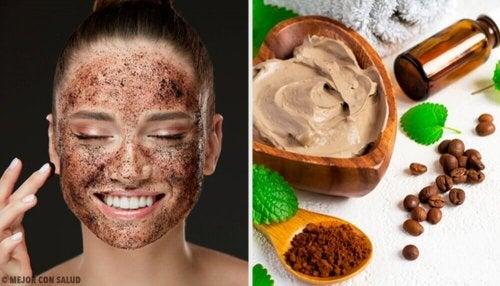 Slik bruker du kaffemasker for å stramme opp ansiktet