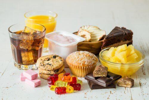 matvarer rike på sukker