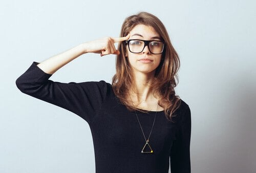 Kvinne med emosjonell intelligens