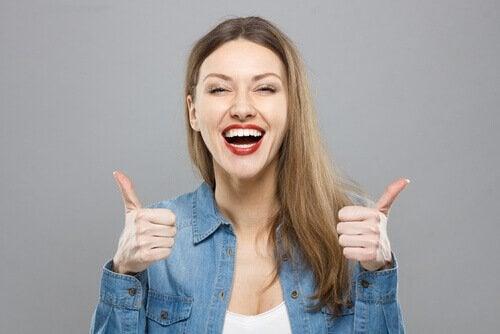 Optimistisk kvinne