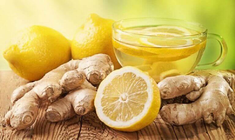 Sitron og ingefær