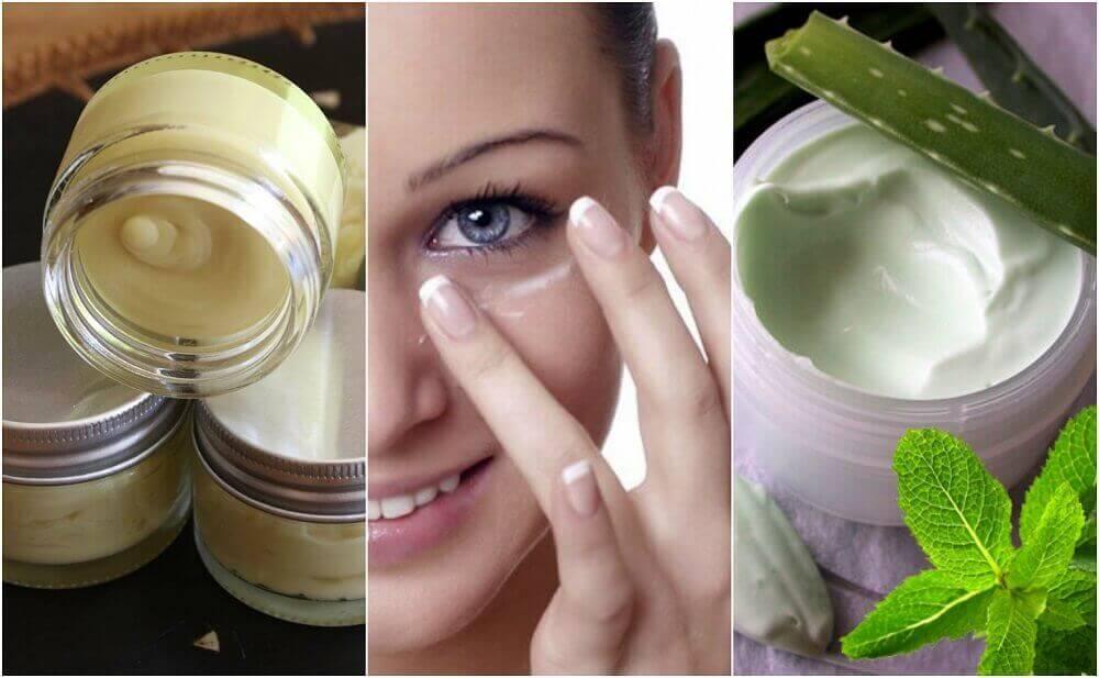 5 naturlige øyekremer for sunn hud