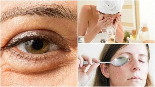 6 naturlige tips for å redusere poser under øynene