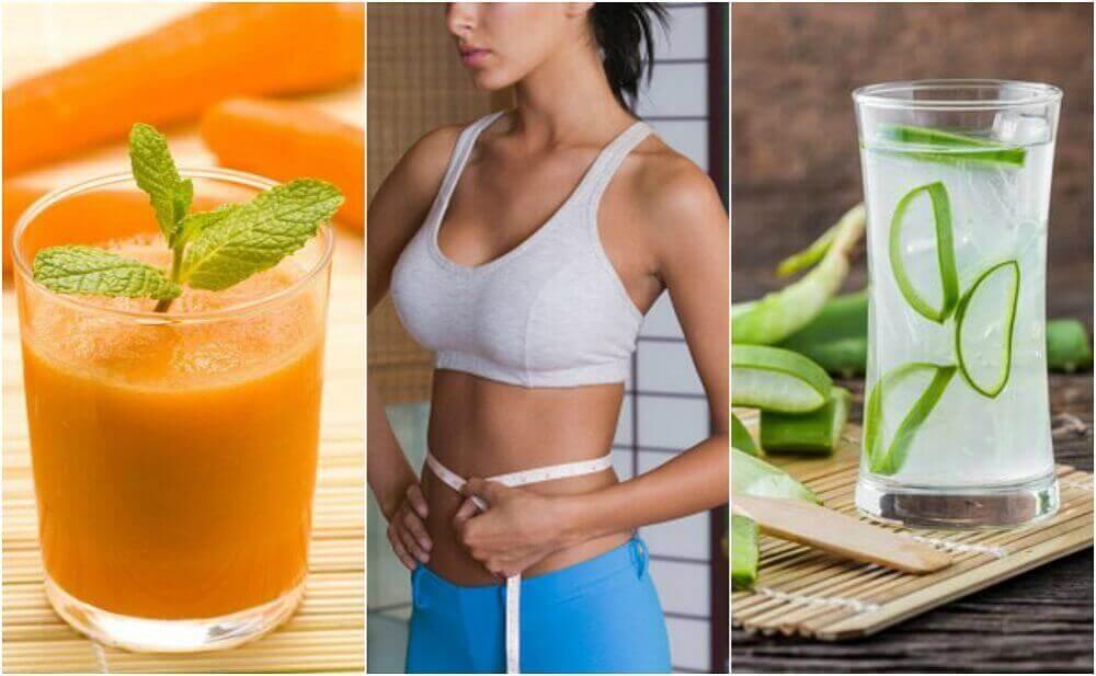 5 juicer som bidrar til å redusere midjemålet ditt