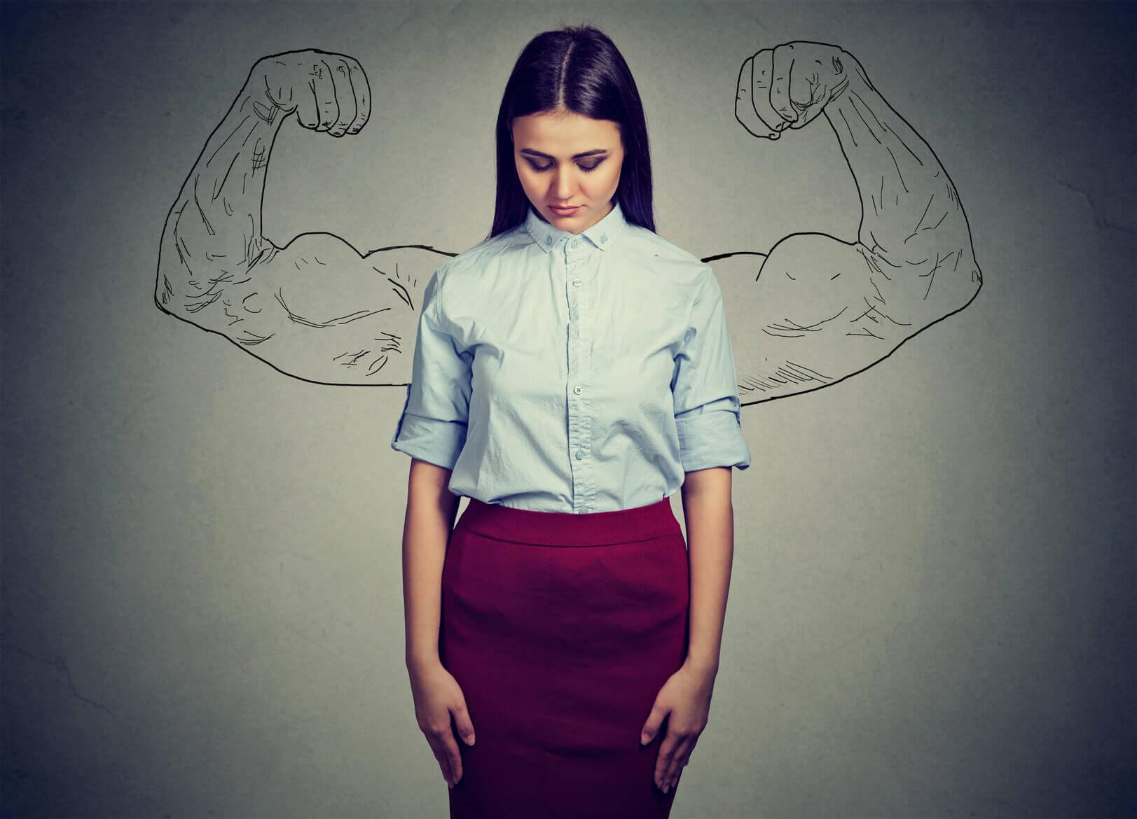 Emosjonelt sterk kvinne