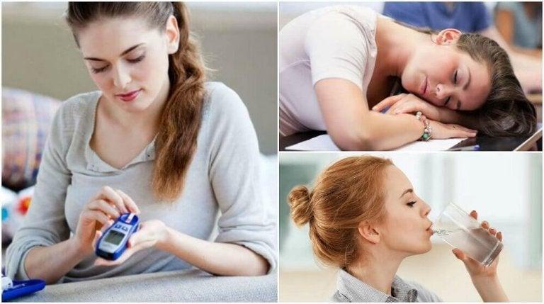 Hva er de 8 første symptomene på diabetes?