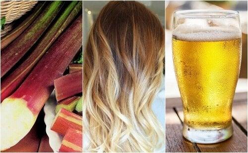 5 måter å lysne håret naturlig på