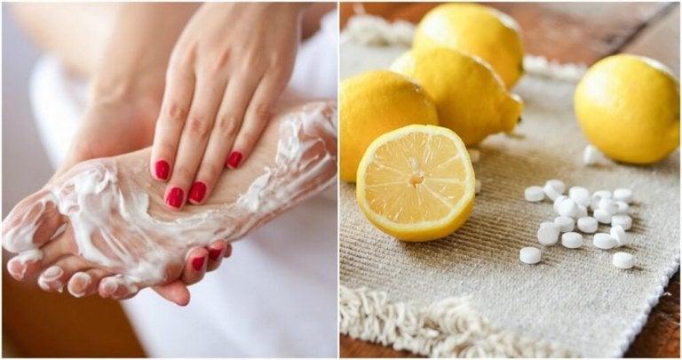 Kombiner aspirin og sitron og si farvel til liktorner på føttene