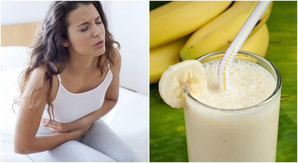 Lindre magesår med potet- og banansmoothie