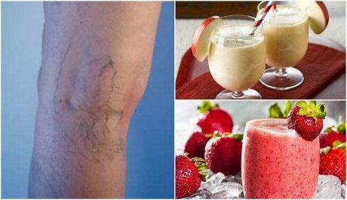 5 hjemmelagde smoothies for å redusere åreknuter