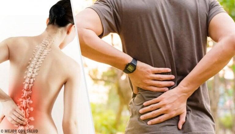 6 helseproblemer som forårsaker smerter i ryggen