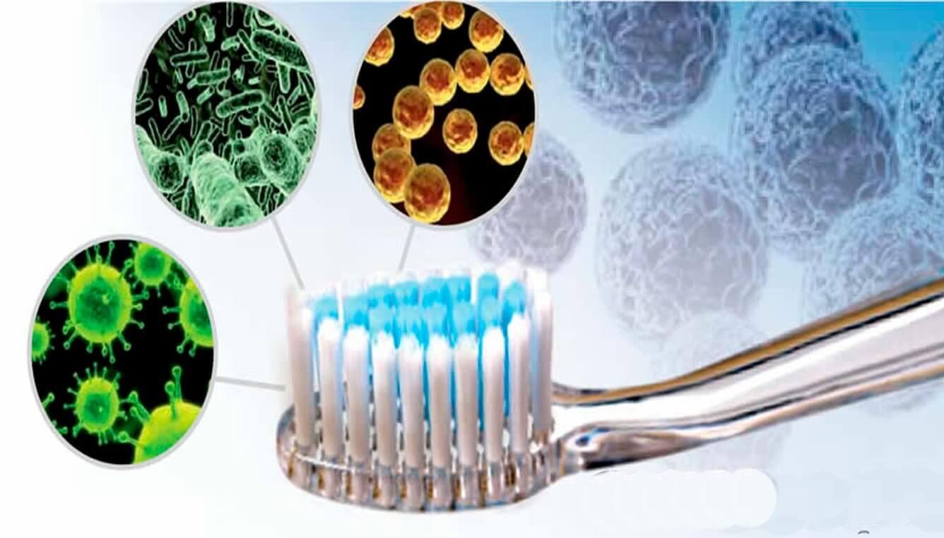 Bakterier på tannbørste