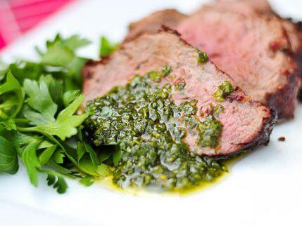 Chimichurri på kjøtt