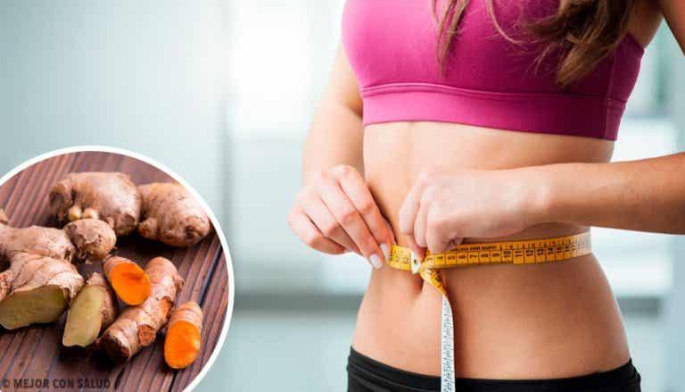 Lag en drikk med gurkemeie og ingefær for å øke stoffskiftet og gå ned i vekt