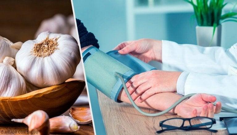 Slik bruker du hvitløk til å behandle høyt blodtrykk