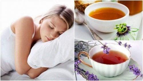 5 naturlige teer for å sove bedre om natten