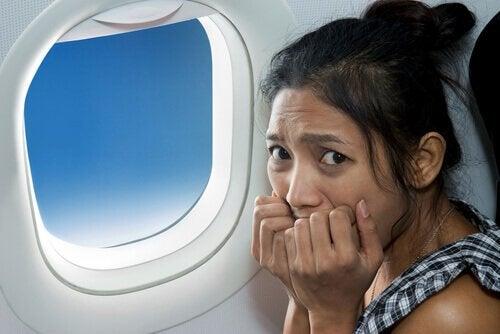 Kvinne er redd for å fly