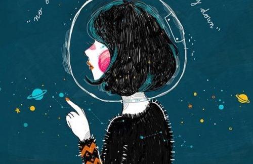 Kvinne i verdensrommet