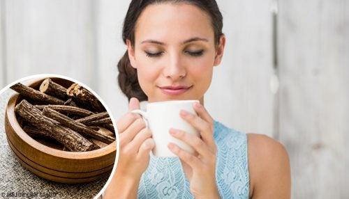 Te av lakrisrot for å lindre refluks