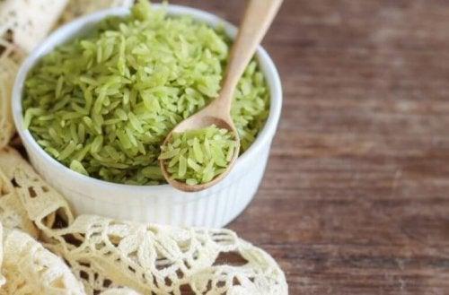Prøv denne nydelige oppskriften på grønn ris