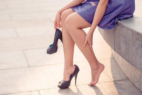 Åreknuter forekommer oftest på bena