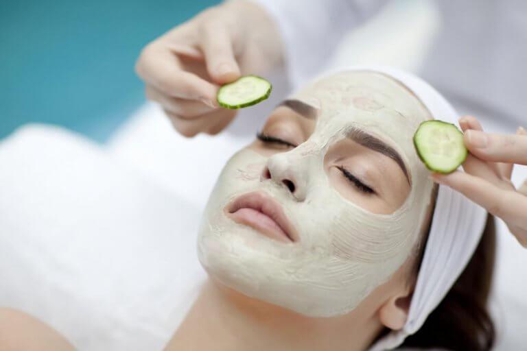 Ansiktsmaske med agurk
