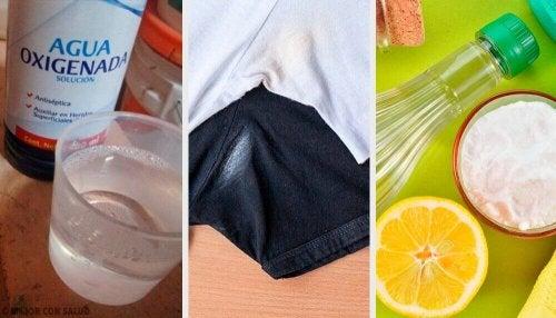 6 måter å bli kvitt deodorantflekker på klærne på