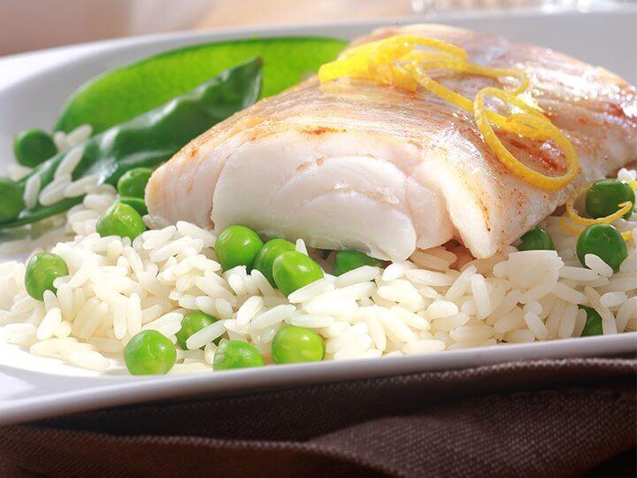 Fisk og ris