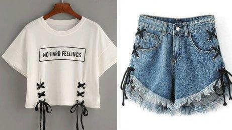 Shorts og t-skjorte