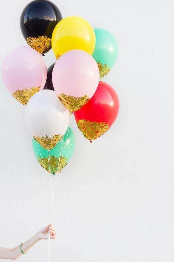 Ballonger med glitter