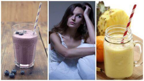 5 naturlige smoothier som vil hjelpe deg å bli kvitt hetetokter om natten