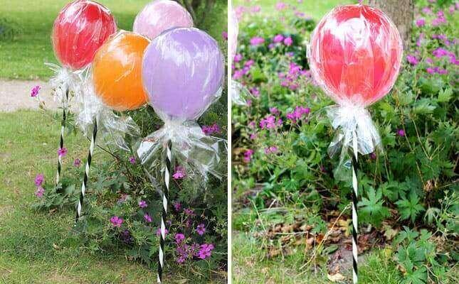 Ballonger som kjærlighet på pinne