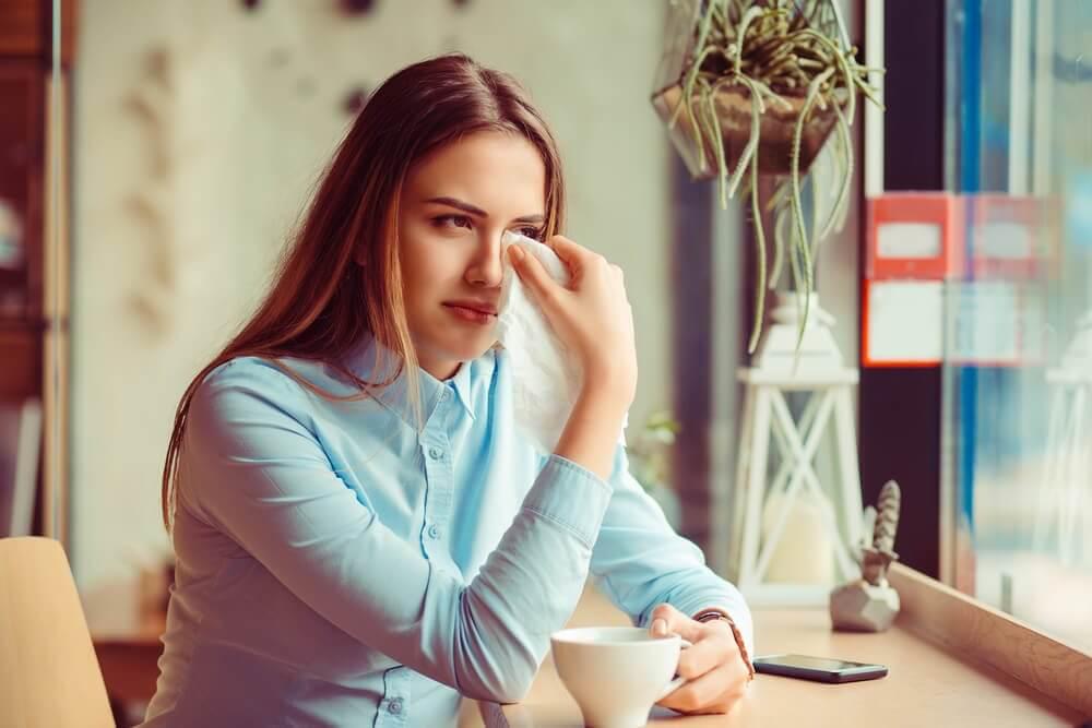 Kvinne med emosjonelle lidelser